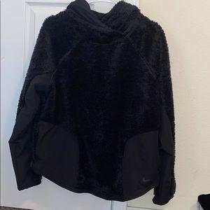 Nike hooded fluffy jacket